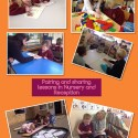 Nursery and Reception 'pairing and sharing'.