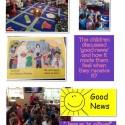 Nursery RE 'Good news' topic.