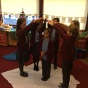 "Y5 prepare and perform an Advent liturgical dance to Isaiah's ""Bringer of Peace"" (based on Isaiah 9: 1, 5, 6)."