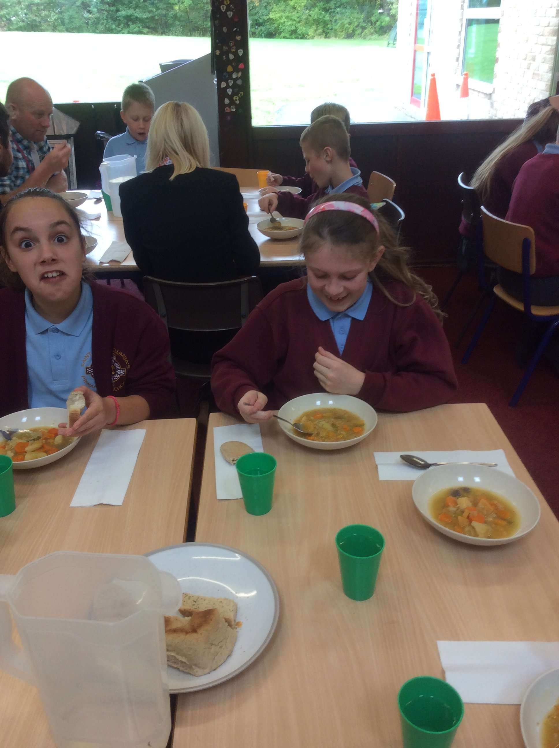 RE in action…Buddy assembly…CAFOD lunch…Y6 7th Oct
