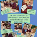 Which material is best for wiping up Y2's spills in the dinner hall?