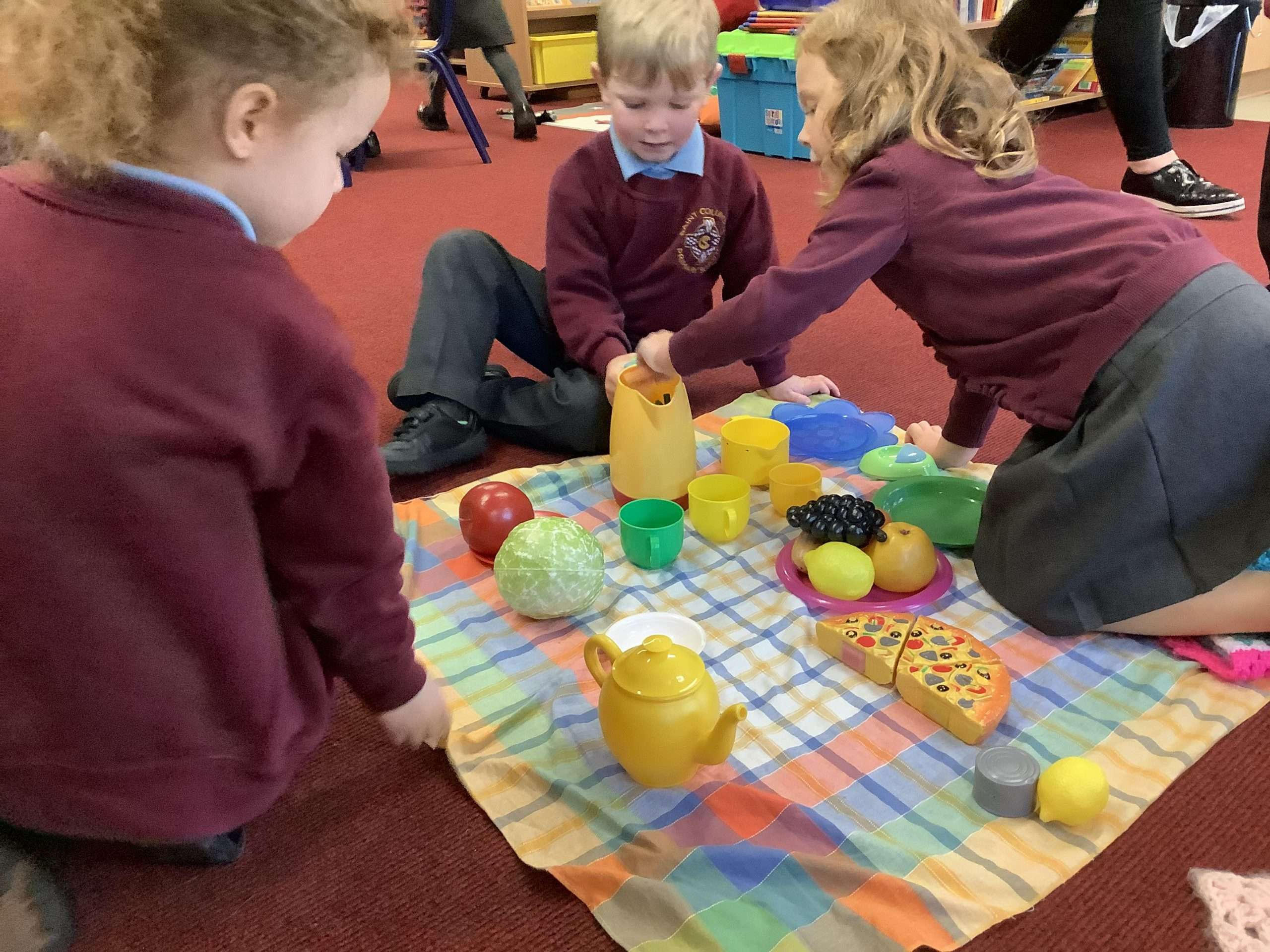Fun working together in Reception!