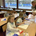 Y4 Working with Chris Howlett, Pallette Knives and Acrylic Paints