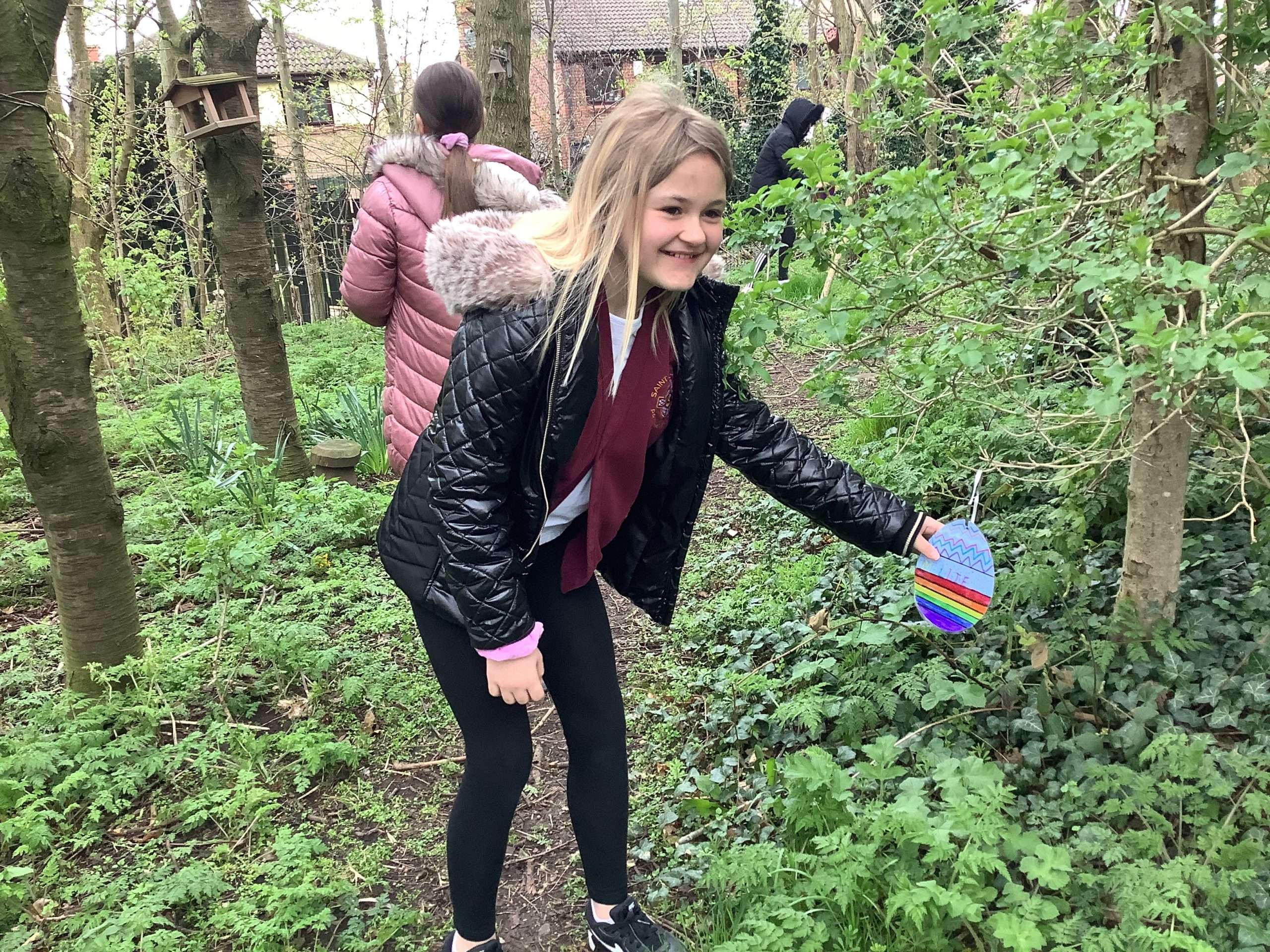 Year 6 and Reception Buddies – Easter Egg Hunt!